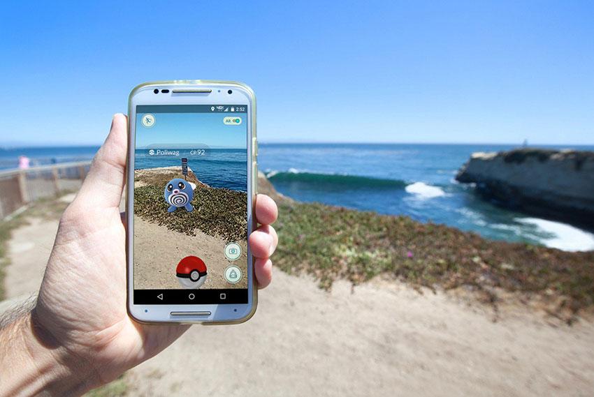 Покемон го фото у моря