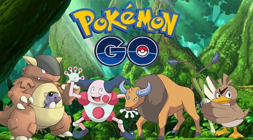 Pokemon Go покемоны по регионам
