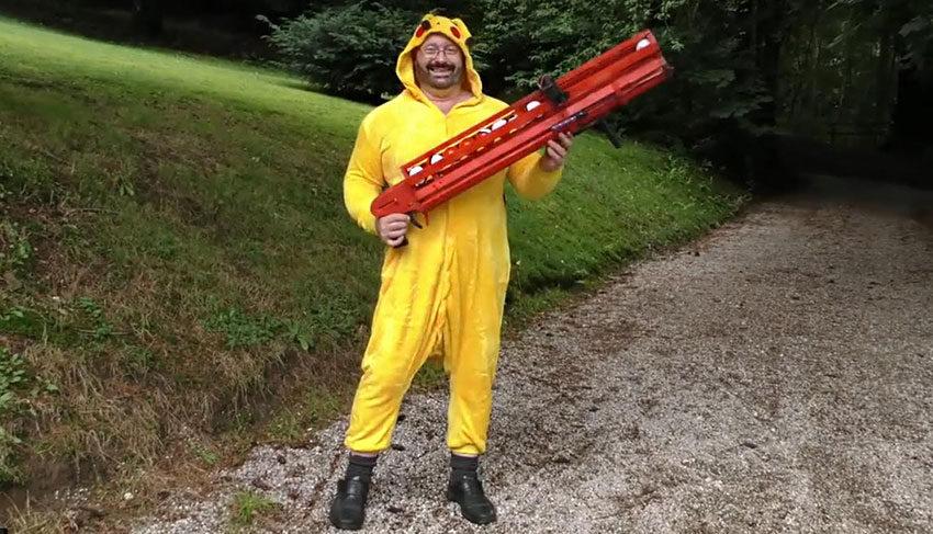 Придумал пушку для ловли покемонов