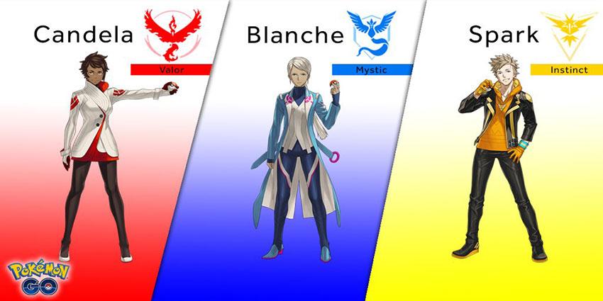 3 лидера в Покемон Го