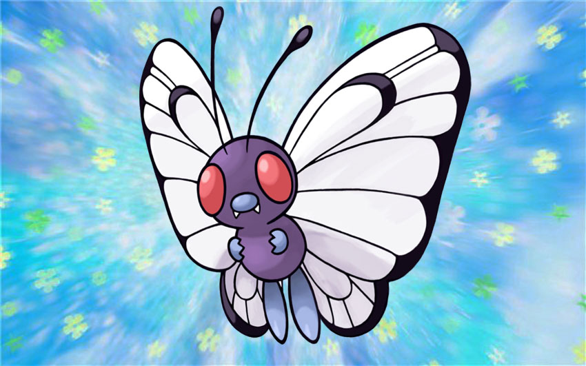 Butterfree Покемон - стадии эволюции, где найти Баттерфри