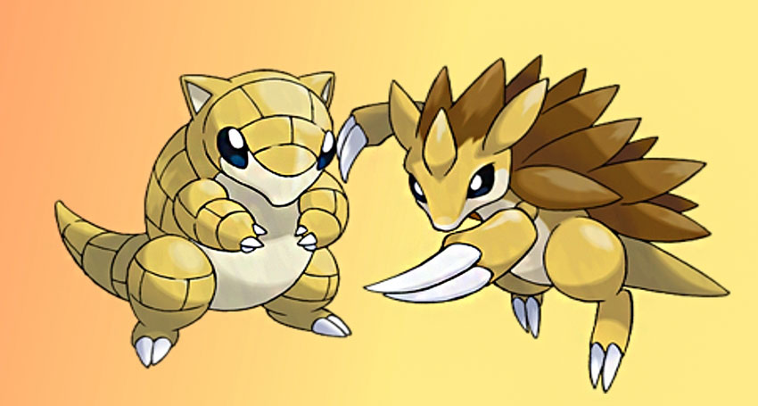 Sandshrew эволюция Сэндшру в Покемон Го