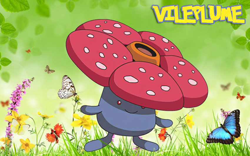 Вайлплум в Покемон Го - эволюция, где найти, как поймать Vileplume гайд