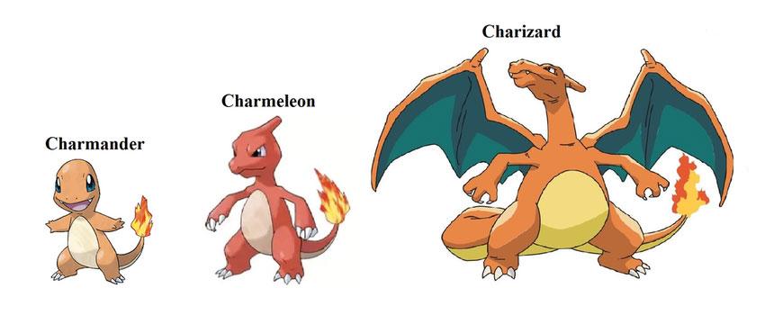 Эволюция Чармелеона - все стадии развития покемона