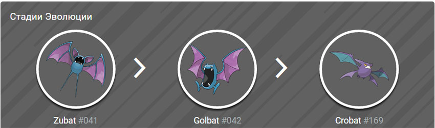 Эволюция Голбата в Покемон Го - Golbat Pokemon Go