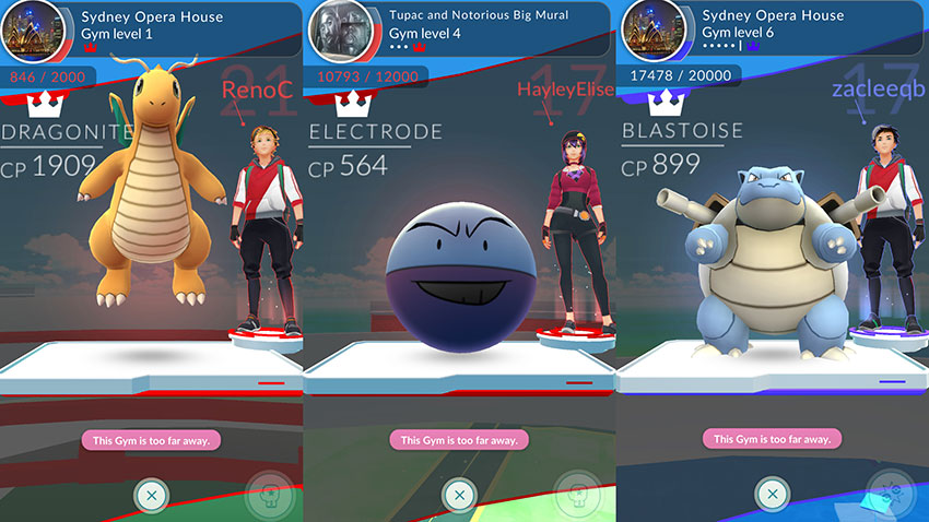 Gym в Pokemon Go