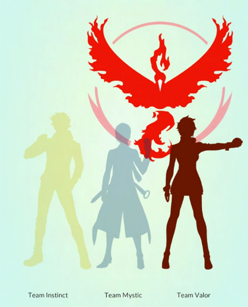 Красная команда в покемон Го Доблесть - Кандела
