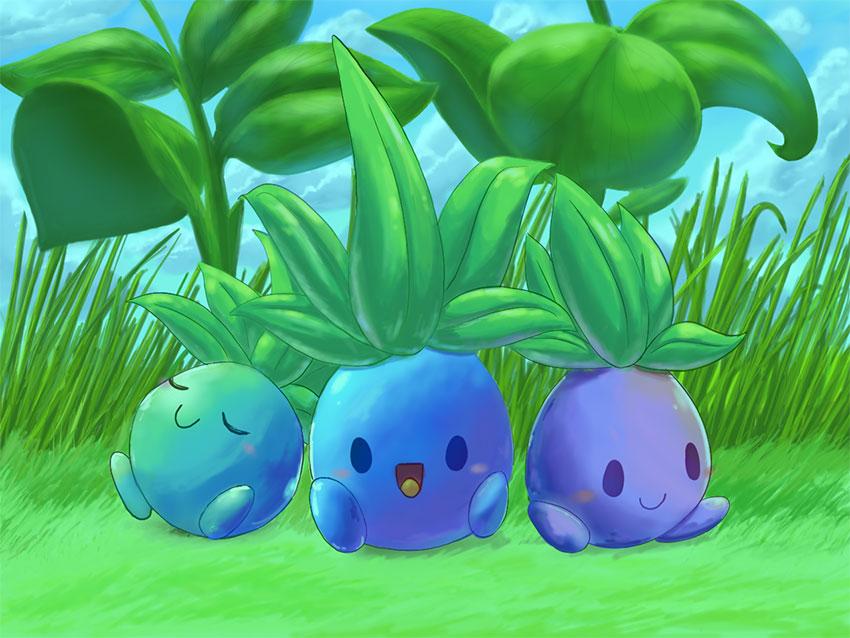 Одиш в Покемон Го - эволюция Оддиш Oddish в Pokemon GO № 043