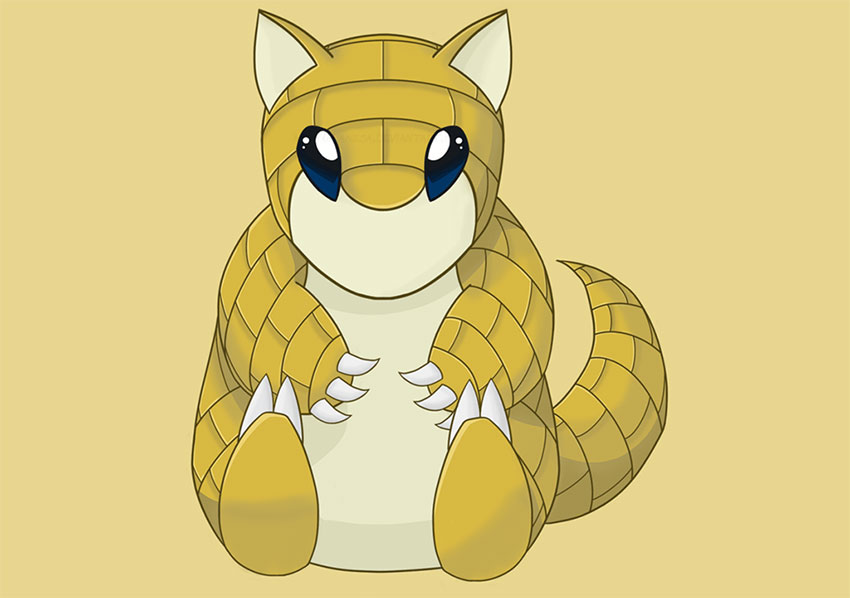 Pokemon go Sandshrew - Сэндшру в Покемон Го - фото, эволюция