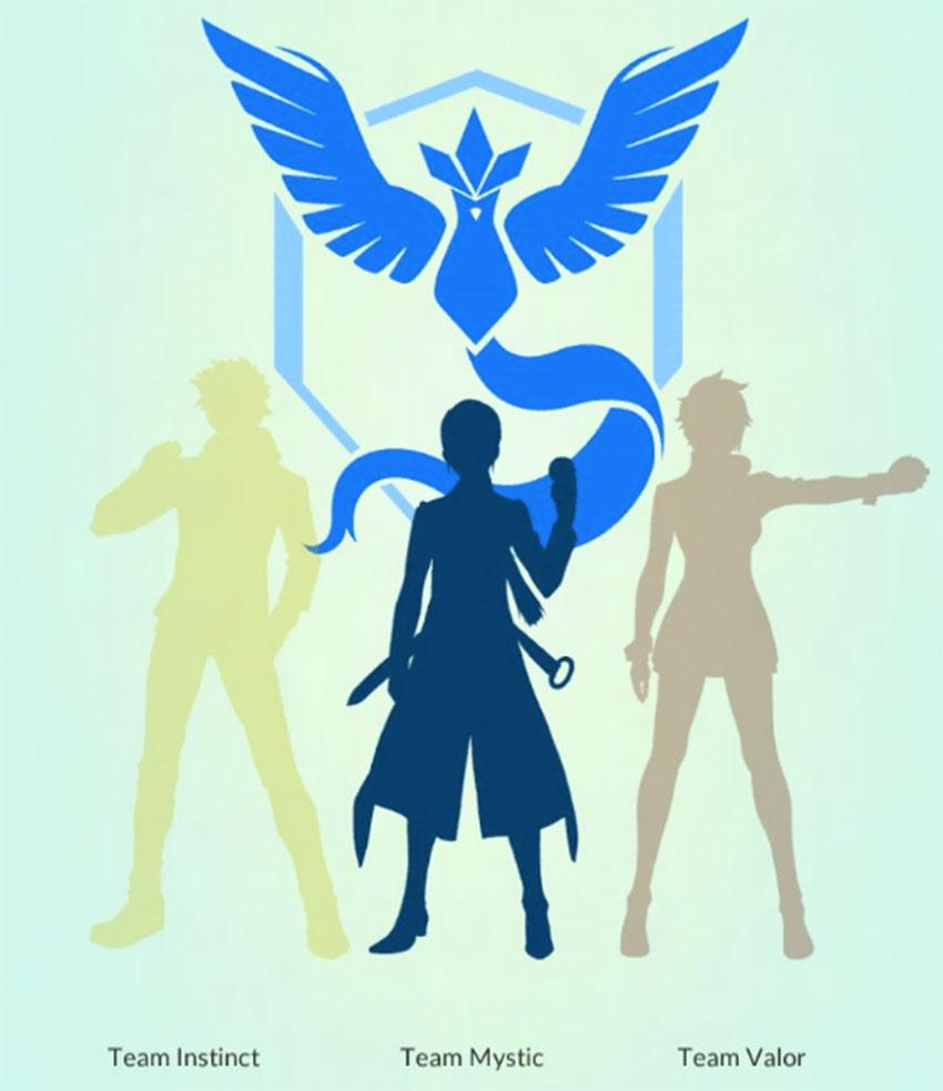 Синяя команда Мистика в Покемон Го Бланш