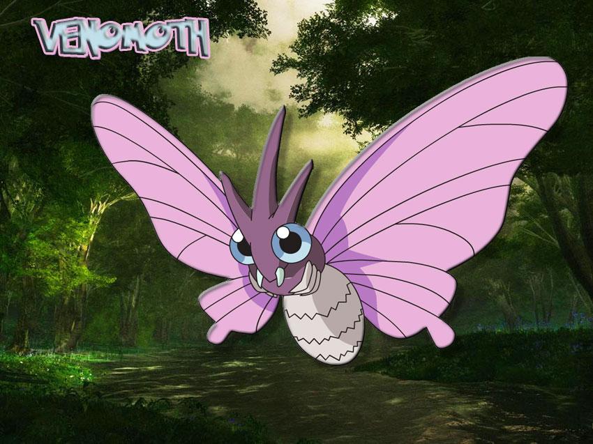 Venomoth Pokemon Go - Веномот в Покемон Го - эволюция, где найти