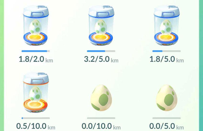 Высиживание яиц в Покемон Го