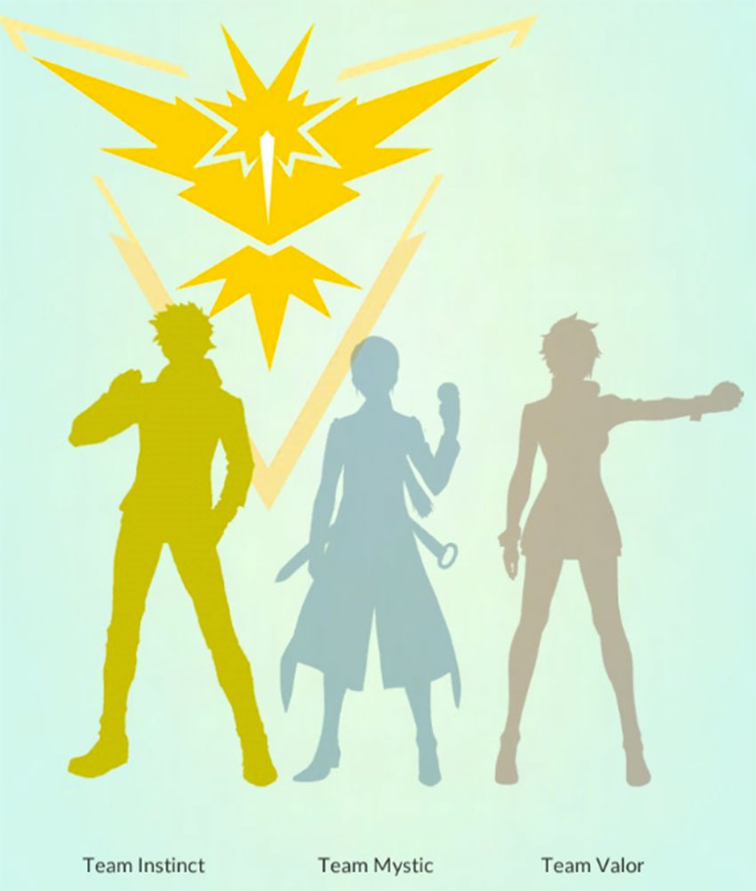 Желтая команда Инстинкт в Покемон Го - Спарк