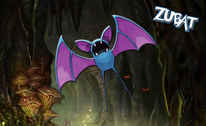 Zubat Pokemon Go - Зубат в Покемон Го эволюция, где найти
