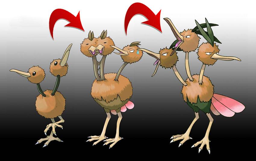 Эволюция Додуо в Покемон Го - Doduo