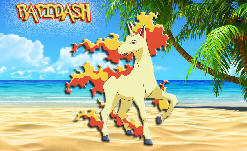 Картинка покемона Рапидаш - Rapidash Pokemon Go