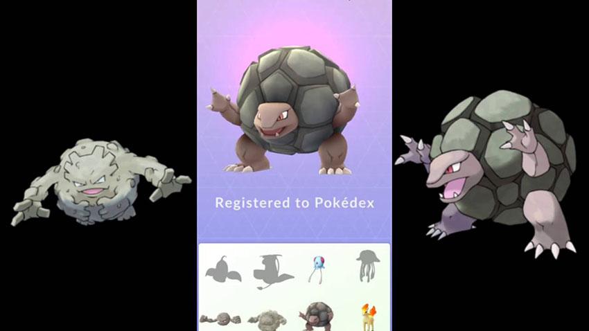 Эволюция Голема в Покемон Го - Golem