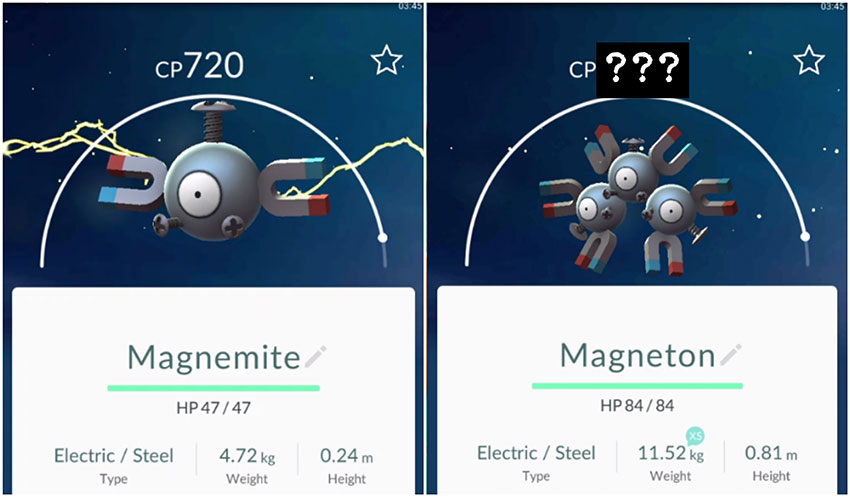 Эволюция Магнемайта в Покемон Го - Magnemite Pokemon Go