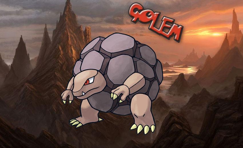 Голем в Покемон Го - эволюция, атаки - картинка Golem Pokemon Go