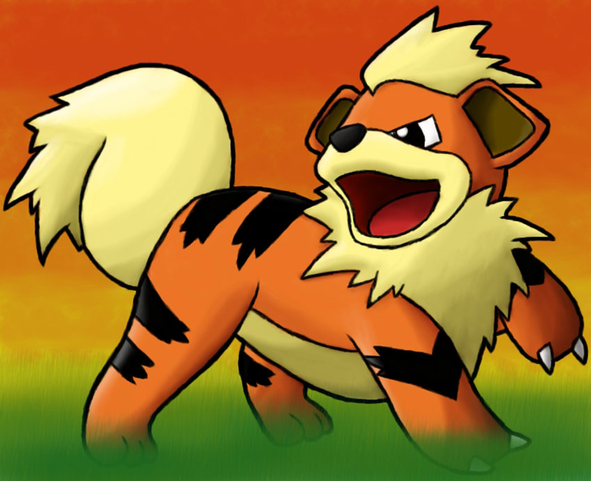 Гроулит в Покемон Го - эволюция Growlithe в Pokemon GO 58