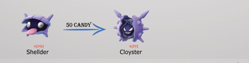 Эволюция Cloyster