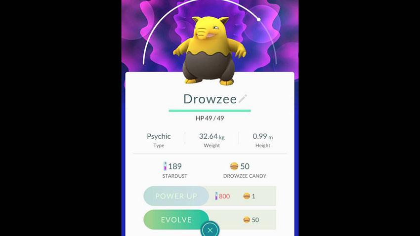 Дроузи в Покемон Го - эволюция Drowzee в Pokemon GO 96