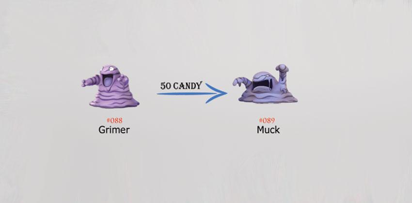 Эволюция Grimer