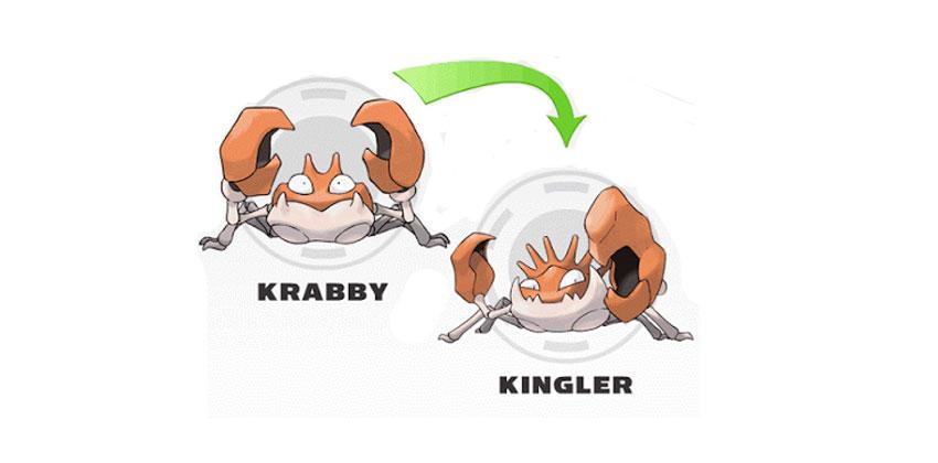 Эволюция Kingler