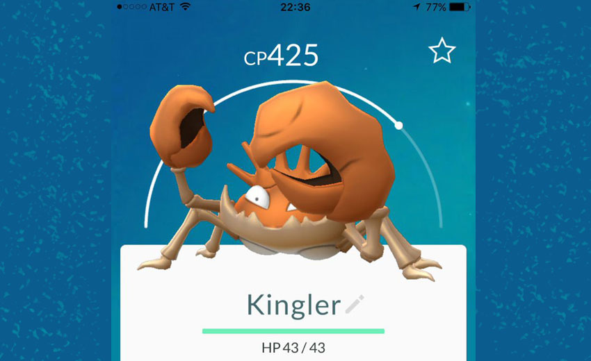 Kingler Pokemon Go