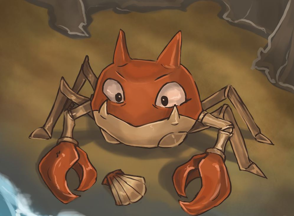 Krabby pokemon Покемон го